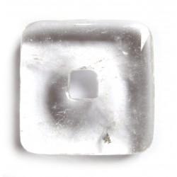 Donut Quadrat Bergkristall 40 mm