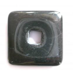 Donut Quadrat Hämatit 30 mm