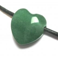 Herz gebohrt Aventurinquarz grün 15 mm