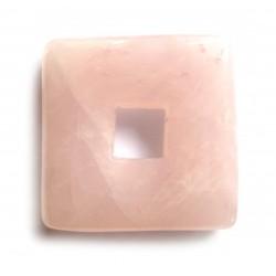 Donut Quadrat Rosenquarz 30 mm