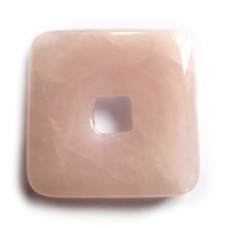 Donut Quadrat Rosenquarz 40 mm