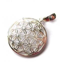 Anhänger Blume des Lebens 16 mm Silber