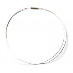 Stahlreif silber 2 mm 42 cm mehrere dünne Kordeln