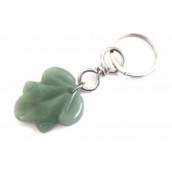Schlüsselanhänger Frosch Aventurinquarz grün