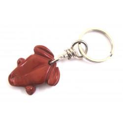 Schlüsselanhänger Frosch Jaspis rot