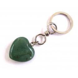 Schlüsselanhänger Herz Aventurinquarz grün