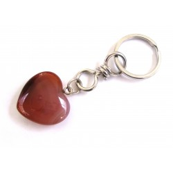 Schlüsselanhänger Herz Carneol (erhitzt)
