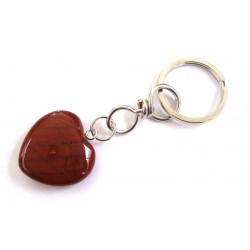 Schlüsselanhänger Herz Jaspis rot