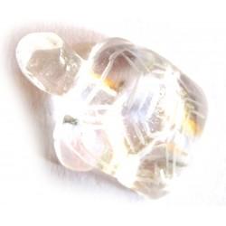 Tier-Gravur Schildkröte Bergkristall 30 mm