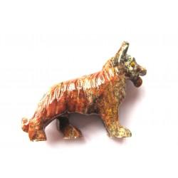 Schäferhund Speckstein 8 cm