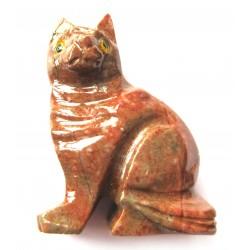 Katze Speckstein 8 cm