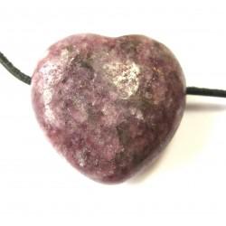 Herz gebohrt Lepidolith 30 mm