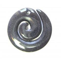 Maori Spirale Blaufluss (Kunstglas)