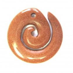 Maori Spirale Goldfluss (Kunstglas)