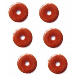 Donut Goldfluss (Kunstglas) 15 mm VE 6 Stück