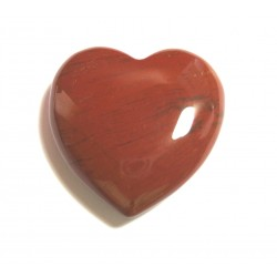 Herz Jaspis rot 45 mm bauchig