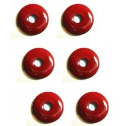 Donut Jaspis rot 15 mm VE 6 Stück