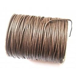 Baumwoll-Band auf Rolle braun 1 mm VE 100 m