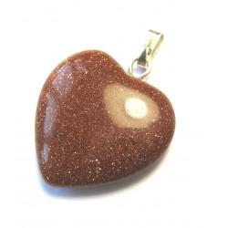 Herz 20 mm Goldfluss (Kunstglas) mit Öse