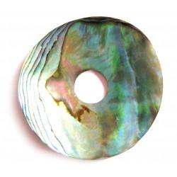 Donut Paua Muschel gewölbt 40 mm