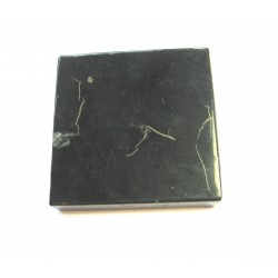 Platte Schungit 7x7 cm in Geschenkschachtel