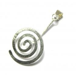 Donut-Spirale Rund Silber (matt) extragroß 60 mm