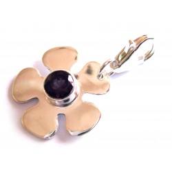 Charm Blume mit Amethyst 28 mm