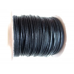 Rolle Lederband schwarz 1 mm 25 m Rind