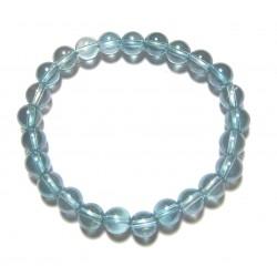 Kugel-Armband Aqua Aura (Bergkristall bedampft) 8 mm