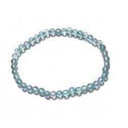 Kugel-Armband Aqua Aura (Bergkristall bedampft) 6 mm