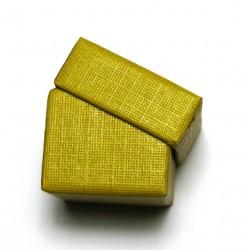 Schmuckschachtel 3,5 x 3,5cm gelb VE 36 Stück