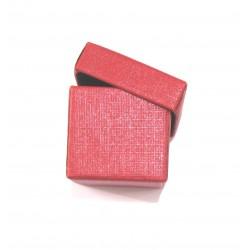 Schmuckschachtel 2,5 x 2,5 cm rot VE 48 Stück