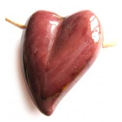 Swing Herz gebohrt Mookait 32 mm