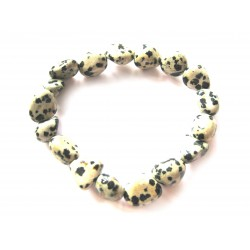 Nugget-Armband klein Dalmatinerstein (Aplit)
