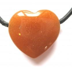Herz gebohrt Aventurinquarz orange 18 mm