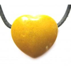 Herz gebohrt Serpentin gelb 18 mm