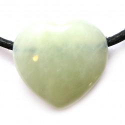 Herz gebohrt Serpentin grün 18 mm
