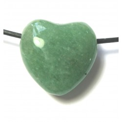 Herz gebohrt Aventurinquarz grün 25 mm
