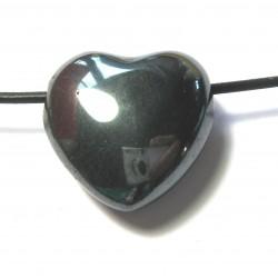 Herz gebohrt Hämatit 25 mm