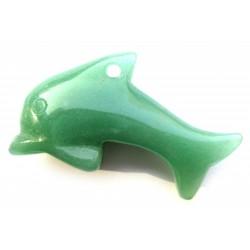 Delfin 5 cm gebohrt Aventurinquarz grün