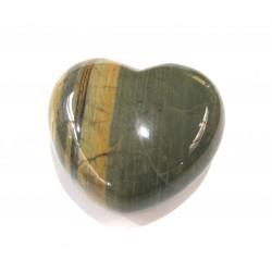 Herz Jaspis Silver Leaf 45 mm bauchig