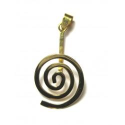 Donut-Spirale Rund Silber vergoldet mittel 40 mm