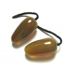 Ohr-Oliven Carneol (erhitzt)