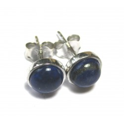 Ohrstecker Lapis Cabochon 6 mm 925er Silber