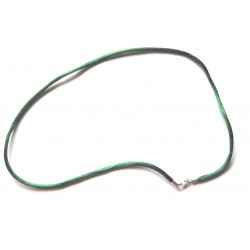Nylon Collier dunkelgrün 2 mm 45 cm  925er Silber Verschluss