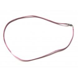 Nylon Collier  rosé 2 mm 45 cm 925er Silber Verschluss