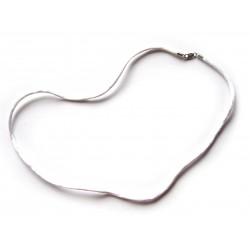 Nylon Collier weiß 2 mm 45 cm 925er Silber Verschluss
