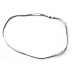 Nylon Collier silber 2 mm 45 cm 925er Silber Verschluss