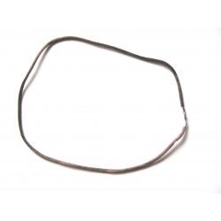 Nylon Collier braun 2 mm 45 cm 925er Silber Verschluss