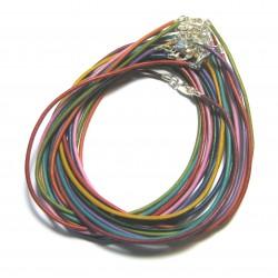 Lederband mit Messingverschluß bunt 45 cm VE 10 Stück